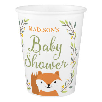 Woodland Fox Baby Shower Paper Cups Paper Cup