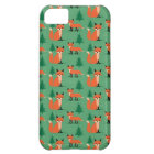 Woodland fox cute retro whimsical hipster foxes case for iPhone 5C