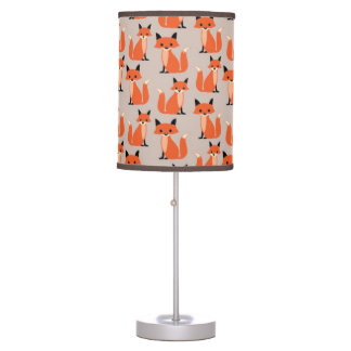 Woodland fox cute retro whimsical hipster foxes desk lamps