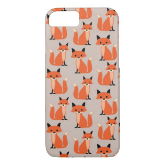 Woodland fox cute retro whimsical hipster foxes iPhone 7 case