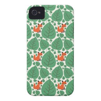 Woodland fox cute whimsical hipster foxes retro Case-Mate iPhone 4 cases