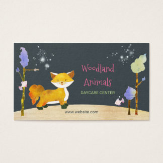 Woodland Fox Daycare Center Business Cards