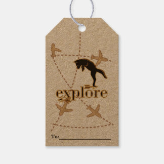 Woodland Fox Explore Wood-Burning Theme Gift Tags
