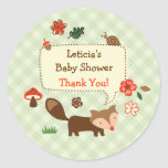 Woodland Fox Favor Sticker