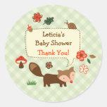 Woodland Fox Favour Sticker