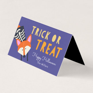 Woodland Fox Halloween Goodie Bag Tag