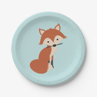 Woodland Fox Paper Plate