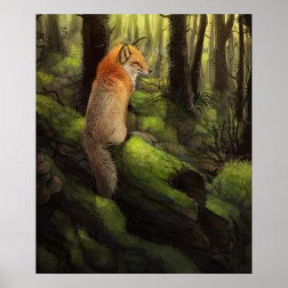 Woodland Fox Poster
