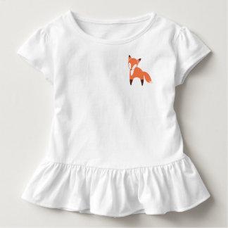 Woodland Fox Toddler Ruffle Tee