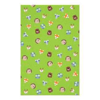 Woodland Friends - Fox Bear Raccoon Hedgehog Deer Stationery Design