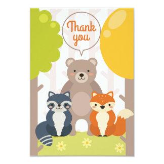 "Woodland Friends Thank You Card 3.5"" X 5"" Invitation Card"