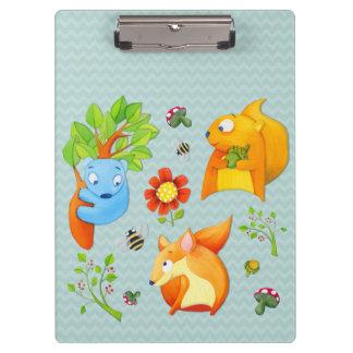 Woodland Fun aqua Clipboard