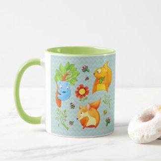Woodland Fun aqua Mug