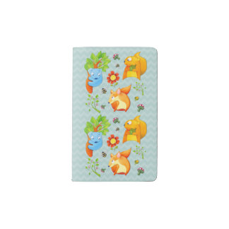 Woodland Fun aqua Notebook Cover