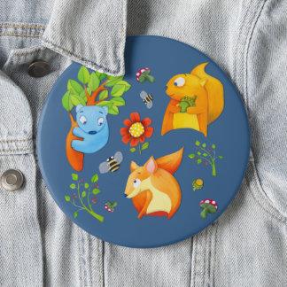 Woodland Fun blue Button