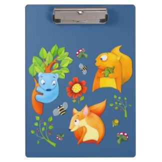 Woodland Fun blue Clipboard