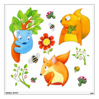 Woodland Fun Square Wall Decals