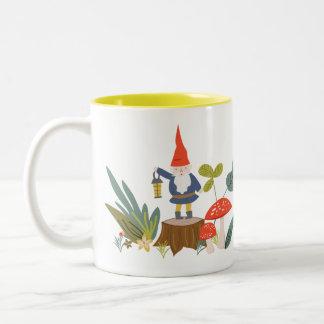 Woodland Gnome Two-Tone Coffee Mug
