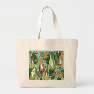 Woodland Gnomes Large Tote Bag