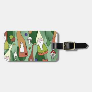 Woodland Gnomes Luggage Tag