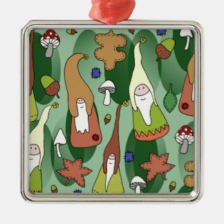 Woodland Gnomes Metal Ornament