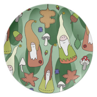 Woodland Gnomes Plate