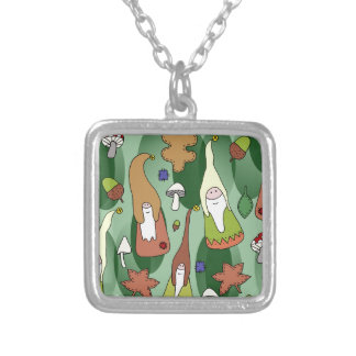 Woodland Gnomes Silver Plated Necklace
