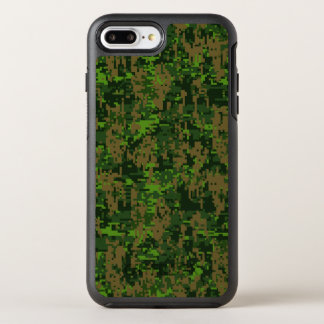 Woodland Green Digital Camouflage Decor on a OtterBox Symmetry iPhone 8 Plus/7 Plus Case