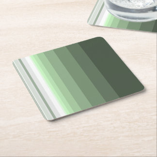 Woodland Green Square Paper Coaster