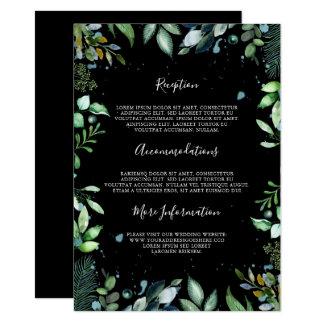 Woodland Greenery Wedding Information Guest Card
