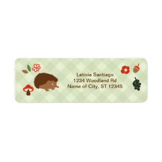 Woodland Hedgehog Label Return Address Label