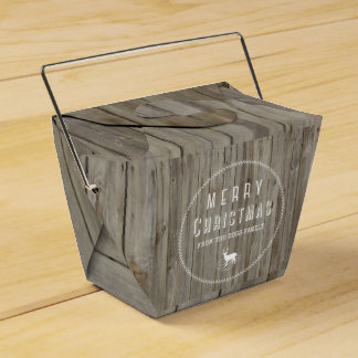 Woodland Holiday Gift Box Favor Boxes