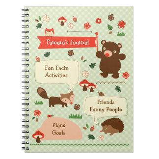 Woodland Journal Notebbok Spiral Note Books