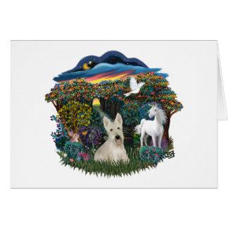 Woodland Magic - Wheaten Scottish Terrier Card