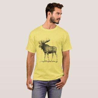 Woodland Moose Cotton T Shirt