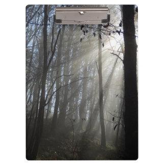 Woodland Morning Mist Clipboard