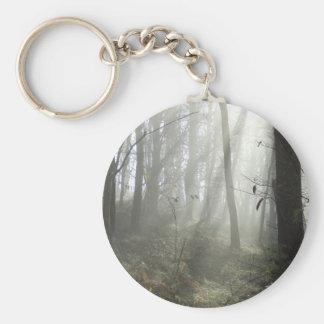 Woodland Morning Mist Key Ring