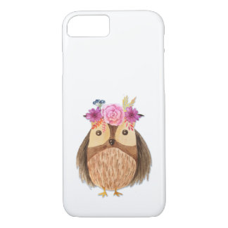 Woodland Owl with Flower Crown iPhone 8/7 Case