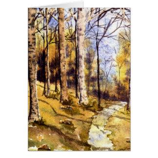 'Woodland Path' Card