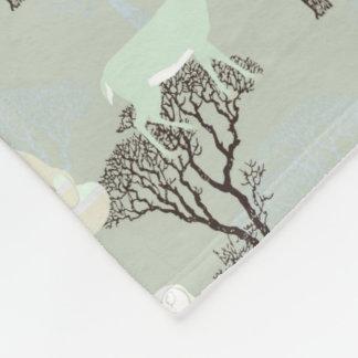Woodland Pattern Fleece Blanket