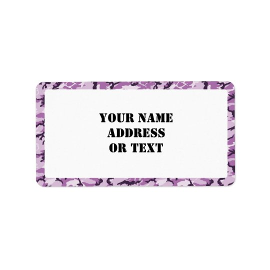 Woodland Pink/Purple Camouflage - with White