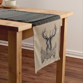 Woodland Plaid Deer Table Runner