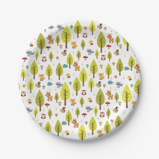 Woodland Plates 7 Inch Paper Plate