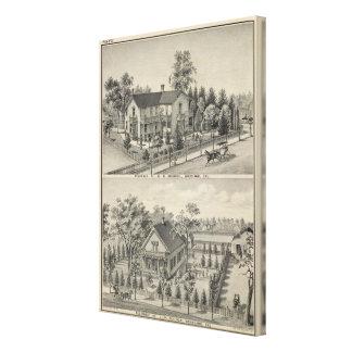 Woodland residences canvas print