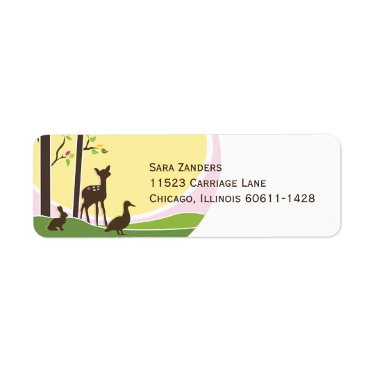 Woodland Return Address Label