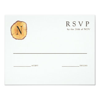 Woodland Rings   Wedding Invitation RSVP
