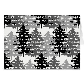 Woodland Rustic Gray Forest Winter Pine Tree Plain Card
