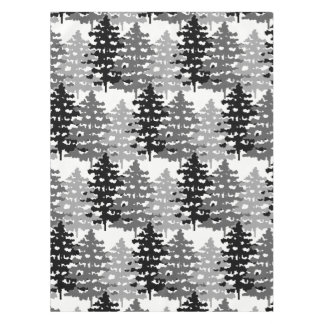 Woodland Rustic Gray Forest Winter Pine Trees Tablecloth