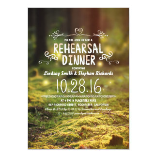 woodland  rustic outdoor rehearsal dinner invites