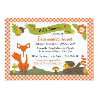 Woodland Scene - 3x5 Baby Shower Invitation